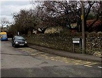 SO8700 : Zigzag yellow markings on School Road, Minchinhampton by Jaggery