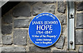 "J2883 : ""Jemmy"" Hope plaque, Mallusk (August 2017) by Albert Bridge"