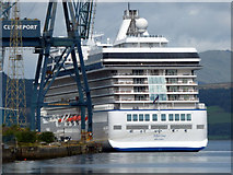 NS2776 : Cruise Ship Marina at Greenock by Thomas Nugent