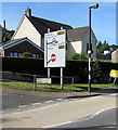 SO2414 : Directions sign on a Gilwern corner by Jaggery