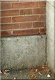 SK4641 : Bench mark, Toll Bar House, Ilkeston by Alan Murray-Rust