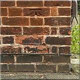 SK4641 : Bench mark, former Anchor Inn, Market Street, Ilkeston by Alan Murray-Rust
