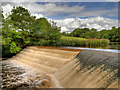 SD7913 : Weir at Burrs Country Park by David Dixon
