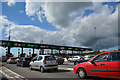ST4587 : Monmouthshire : The M4 Toll Booth by Lewis Clarke