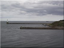NJ9605 : Old South Breakwater and new South Breakwater by Tim Glover