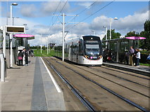 NT1772 : Gyle Centre Tram Stop on the Edinburgh Tram Route by G Laird