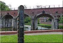 SJ6604 : Coalbrookdale Viaduct crossing the Upper Furnace Pool by Mat Fascione