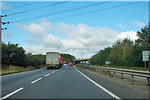 TF0106 : A1 approaching A6121 turning by Robin Webster