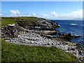 G7068 : The rocky shore at St. John's Point by Kenneth  Allen
