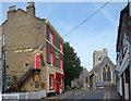 TR3868 : Church and Pub, St Peter's High Street by Des Blenkinsopp