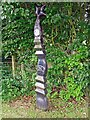 NY4632 : Millennium milepost at Laithes by Rose and Trev Clough
