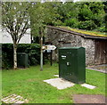 SO5200 : Old signpost between two telecoms cabinets, Tintern by Jaggery