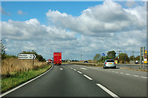 SK8741 : A1 at Toll Bar Road turning by Robin Webster