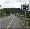 SO5300 : Speed camera sign alongside the A466, Tintern by Jaggery