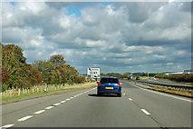 SK8839 : A1 northbound, Gonerby Moor by Robin Webster