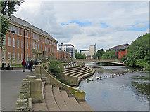 SK3536 : Derby: beside the Derwent by John Sutton