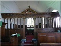 SS8712 : The screen, Cruwys Morchard church by David Smith
