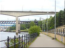 NZ2462 : Keelman's Way and bridges of the Tyne by Oliver Dixon