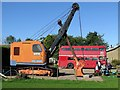 NT9350 : NCK Excavator & Route Master Bus, Chain Bridge Honey Farm by Andrew Curtis