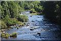 SO1520 : River Usk upstream from Llangynidr Bridge by M J Roscoe