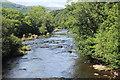 SO1520 : River Usk upstream (2) from Llangynidr Bridge by M J Roscoe