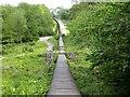 TQ7020 : Conveyor belt for gypsum in Darwell Wood by Patrick Roper
