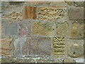 NU1019 : St Maurice, Eglingham - tower stonework by Stephen Craven