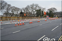 SX4757 : Roadworks, A386 by N Chadwick