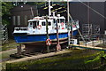 NT9464 : Boat on the slipway at Eyemouth by David Martin