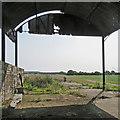 TL4851 : Dutch barn on the way to Babraham by John Sutton