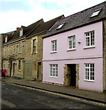 SP0202 : Pink house, Gloucester Street, Cirencester by Jaggery