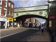SO8455 : Foregate Street Railway Bridge by don cload