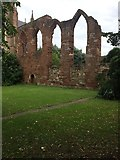 SO8554 : Historic Walls by Worcester Cathedral by don cload
