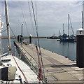 SY6874 : The diesel pier, Portland Marina by Robin Stott