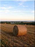 TQ0804 : Hay Bale, East Hill by Simon Carey