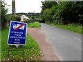 SO2414 : Bilingual temporary road sign, Maesygwartha Road, Gilwern by Jaggery