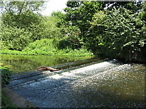 TQ0481 : Weir on the River Colne southwest of Old Mill Farm by Mike Quinn