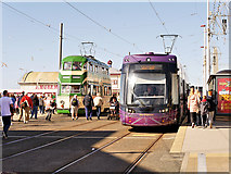 SD3036 : Old and New Trams at North Pier by David Dixon