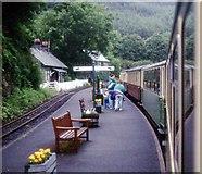 SH6441 : Tan-y-bwlch station platform by Alan Reid