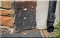 NY5130 : Benchmark on house at Brent Road/Fell Lane junction by Roger Templeman
