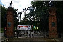 TQ2992 : Gates to Arnos Park by Christopher Hilton