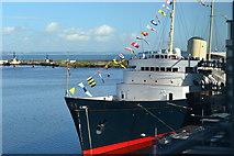 NT2677 : The Royal Yacht Britannia, seen from the Ocean Terminal by David Martin