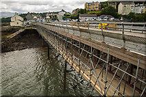 SH5873 : Restoration Works at Bangor Pier by Oliver Mills