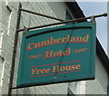 NY7146 : Sign for the Cumberland Hotel, Alston by JThomas