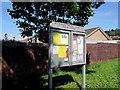 SY4692 : Bothenhampton and Walditch Parish Council noticeboard, Bridport by Jaggery