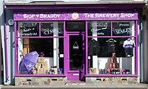 SH5638 : Purple Moose Brewery Shop, Porthmadog by Andrew Woodvine