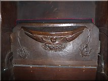 SD7336 : St Mary & All Saints, Whalley: misericord carving (ix) by Basher Eyre