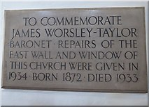 SD7336 : St Mary & All Saints, Whalley: memorial (III) by Basher Eyre