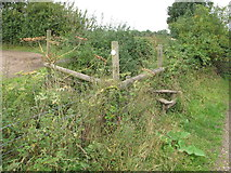 SP7202 : Official route of public footpath overgrown by David Hawgood