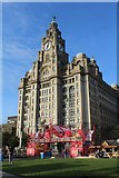 SJ3390 : The Liver building clock has different times by Richard Hoare
